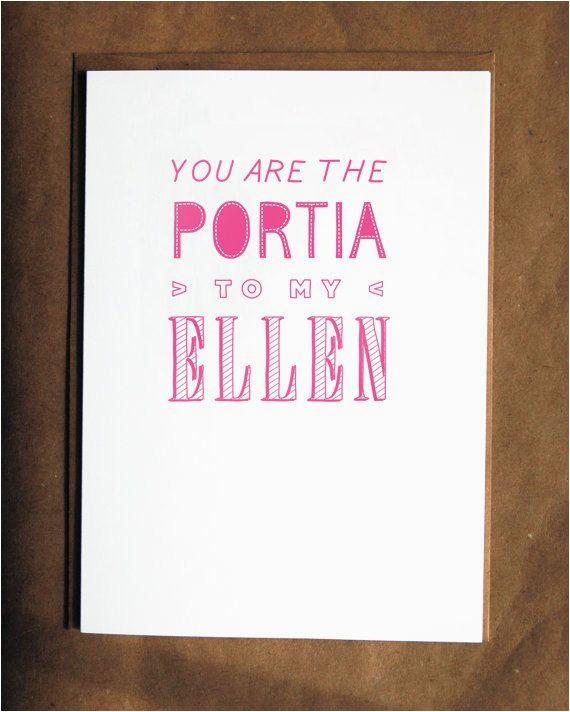 funny lesbian birthday card portia and ellen