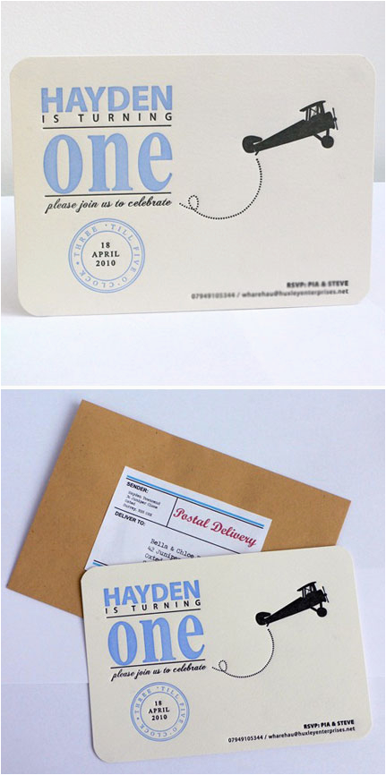first birthday party invitations for boys and girls