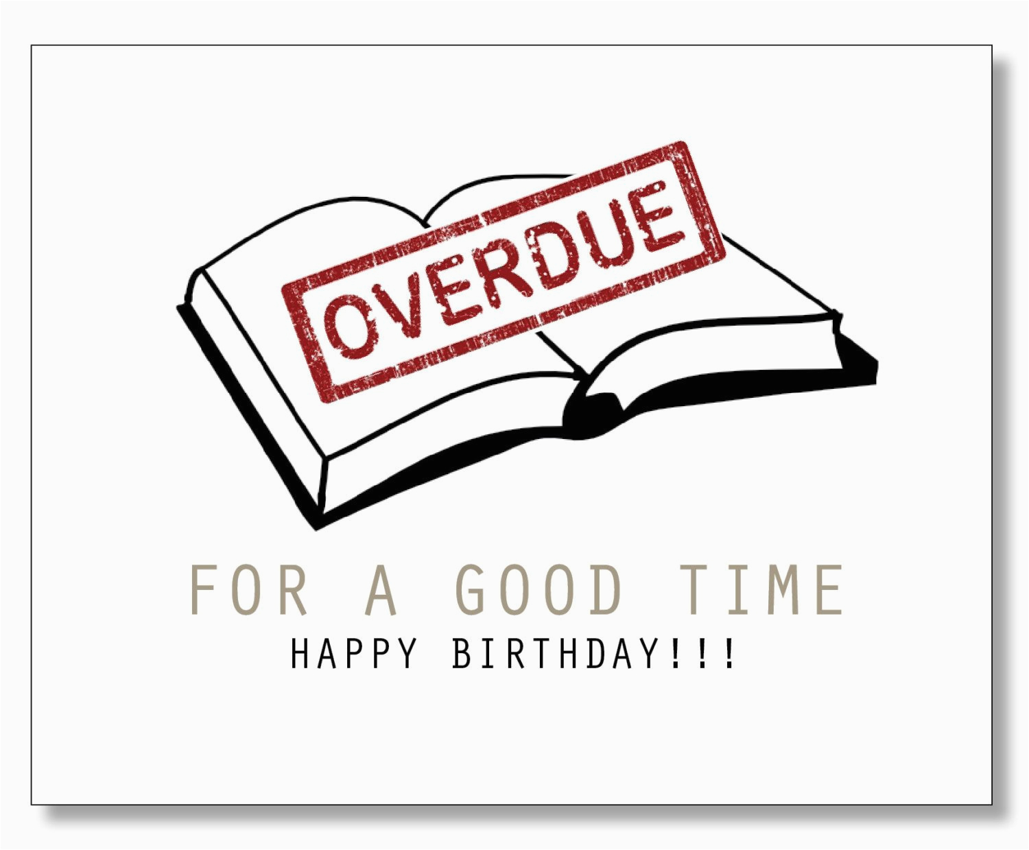 funny hilarious awesome birthday card book lover card