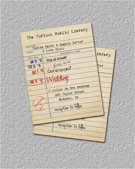 best designing library card invitations birthday party