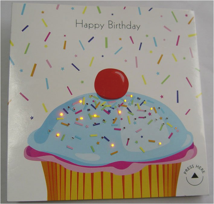 led light up birthday card