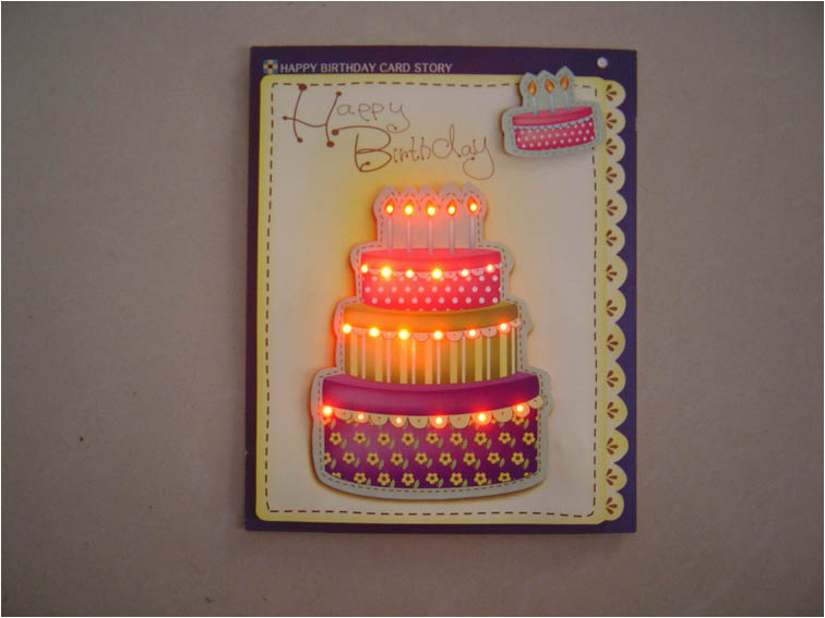 led light up birthday greeting cards 203493680