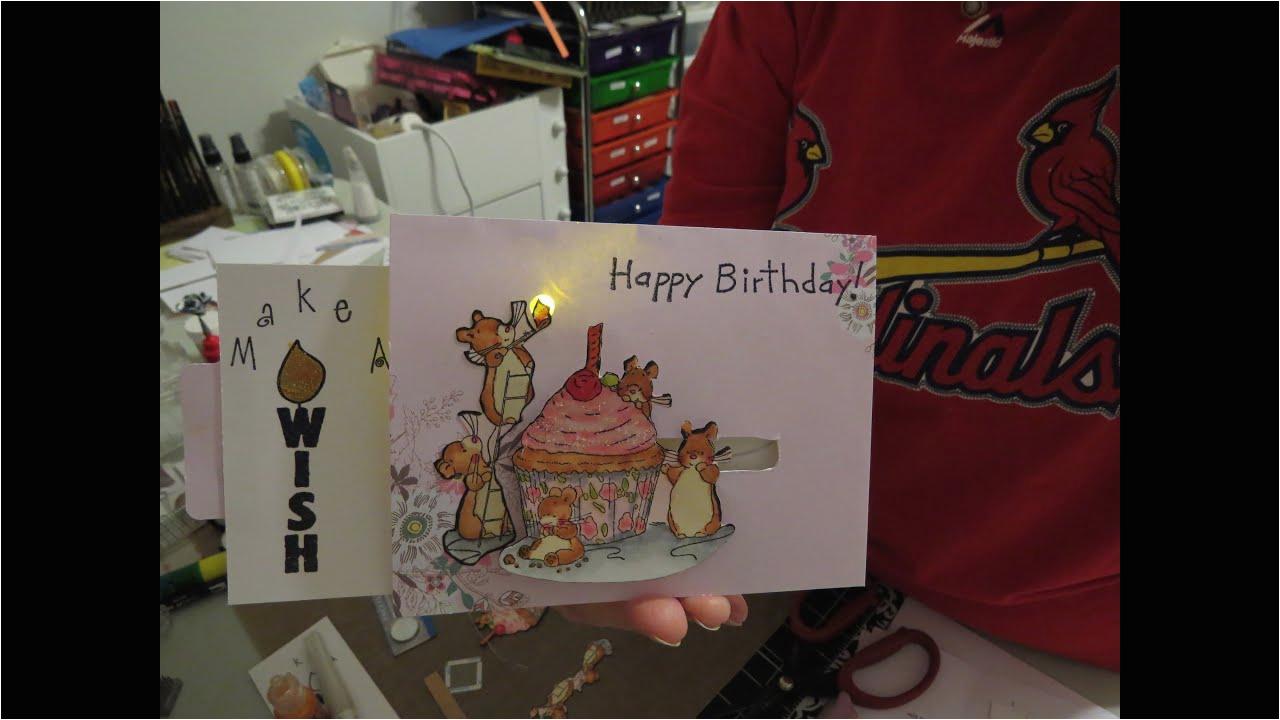 Light Up Birthday Cards Card Tutorial Youtube