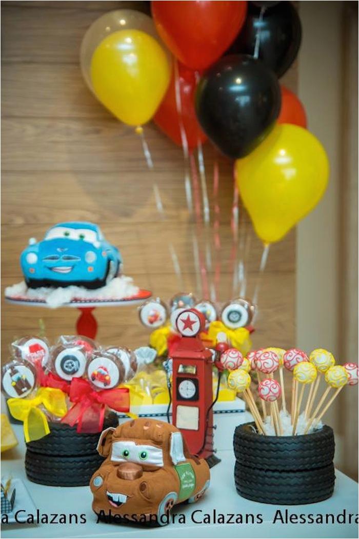 Lightning Mcqueen Birthday Decorations Kara 39 S Party Ideas Cars Themed