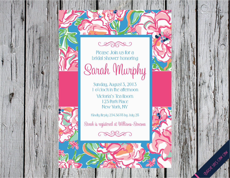 lilly pulitzer birthday invitations
