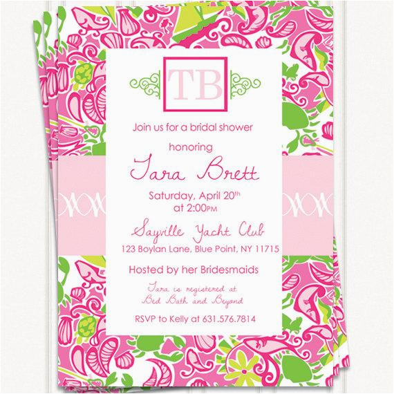 lilly pulitzer inspired invitations