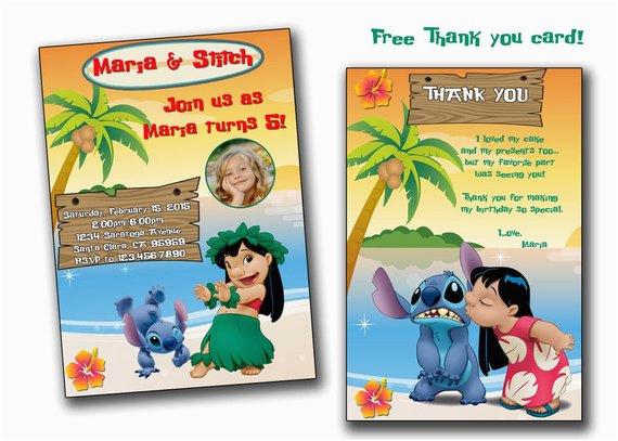 lilo and stitch birthday invitation lilo