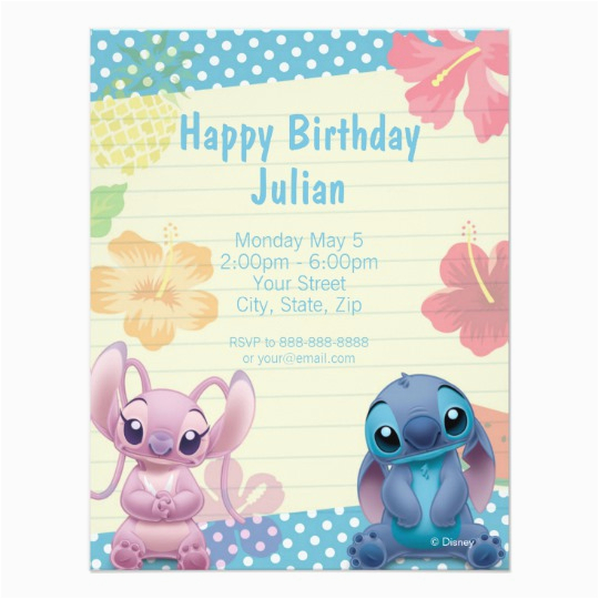 Lilo and Stitch Birthday Party Invitations Lilo Stitch Birthday Invitation Zazzle Com
