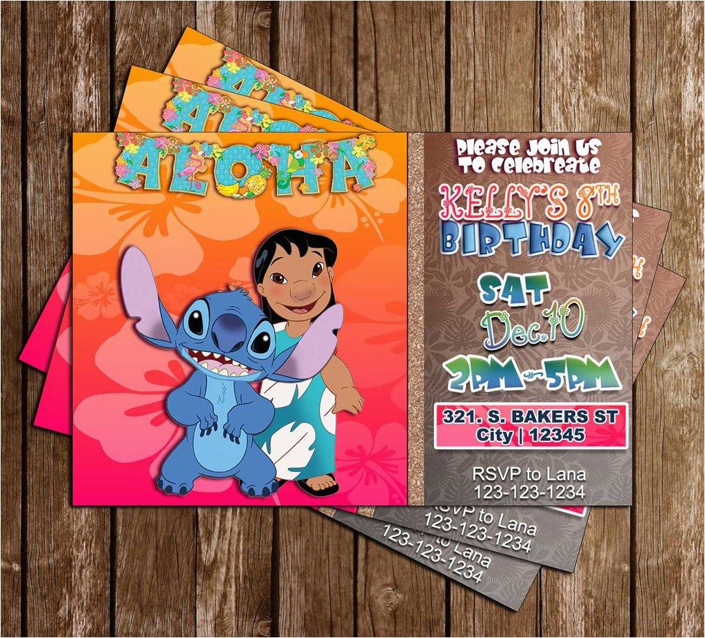 lilo and stitch birthday party invitation