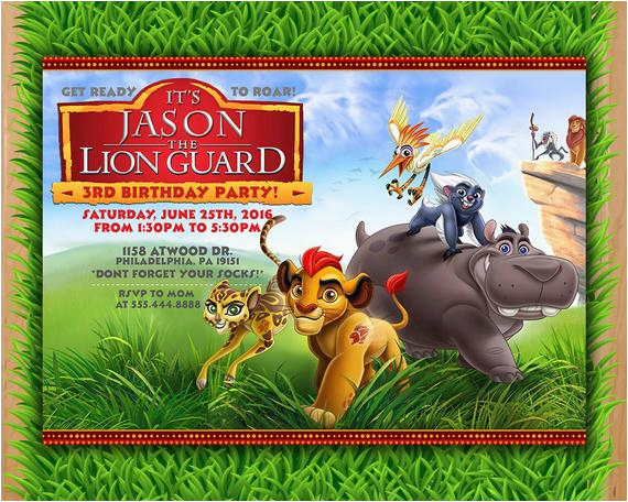 lion guard invitation kion lion guard