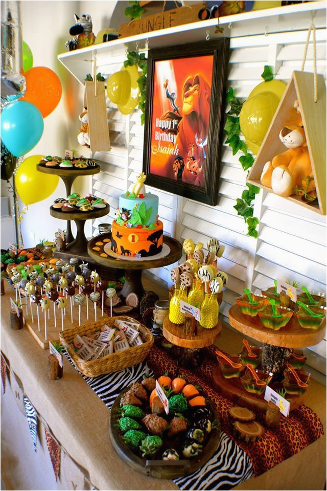 disney lion king first birthday