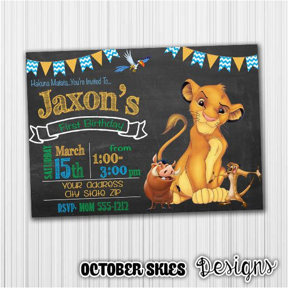 lion king birthday invitation birthday