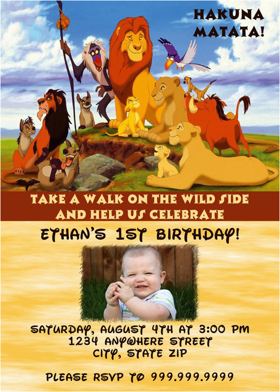 lion king birthday party invitation ideas
