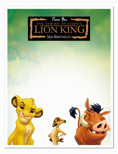lion king birthday invitation template