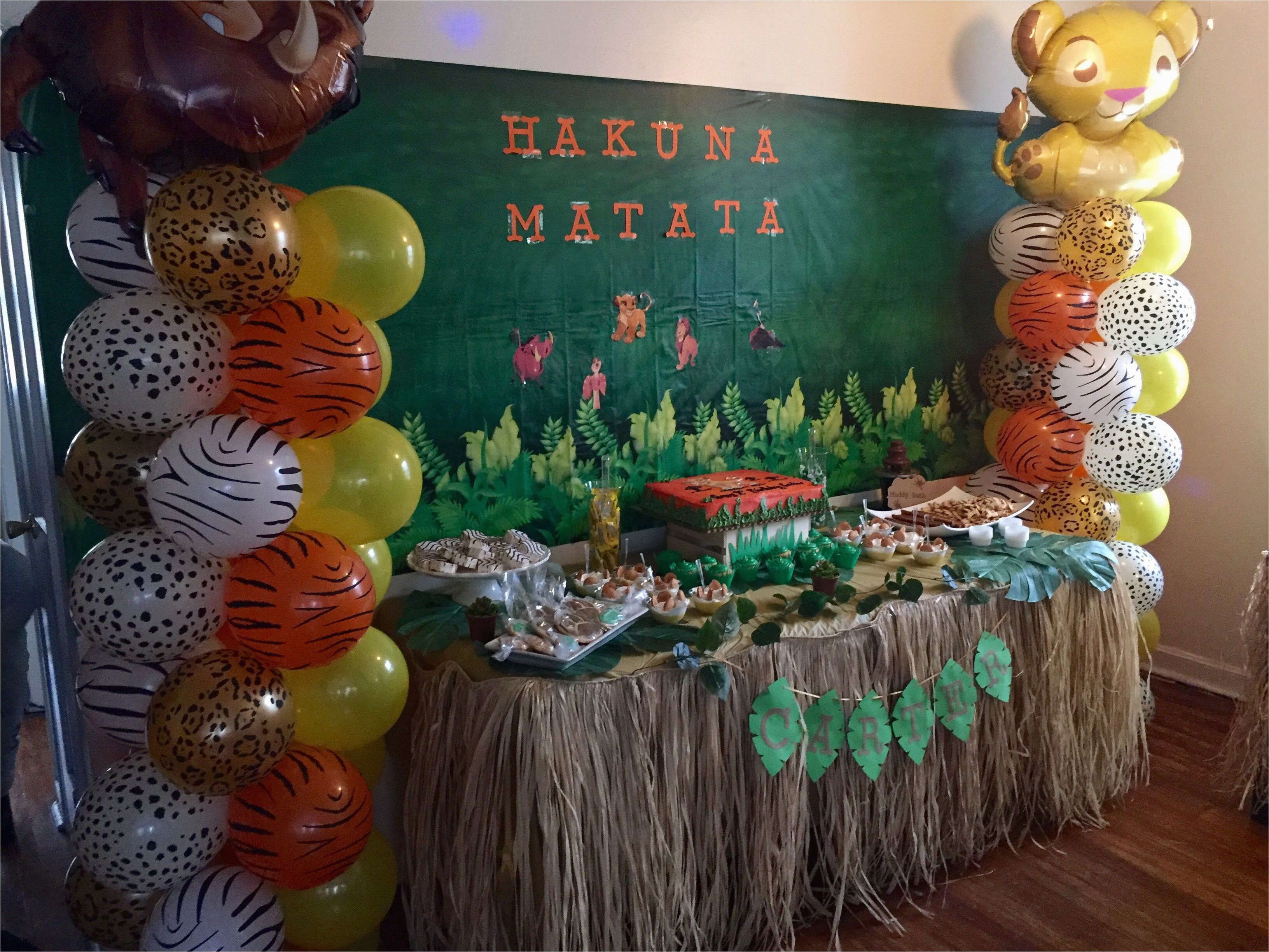 Lion King Birthday Party Decorations the Lion King 39 S First Birthday Party Candy Table Idea