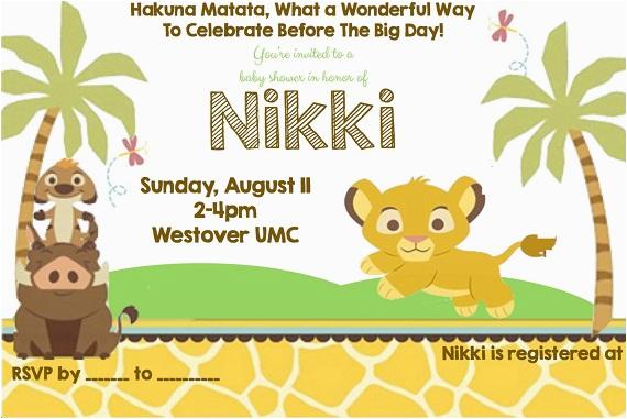 lion king birthday party invitation ideas