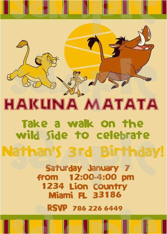 Lion King Birthday Party Invitations Lion King Birthday Party Invitations Cimvitation