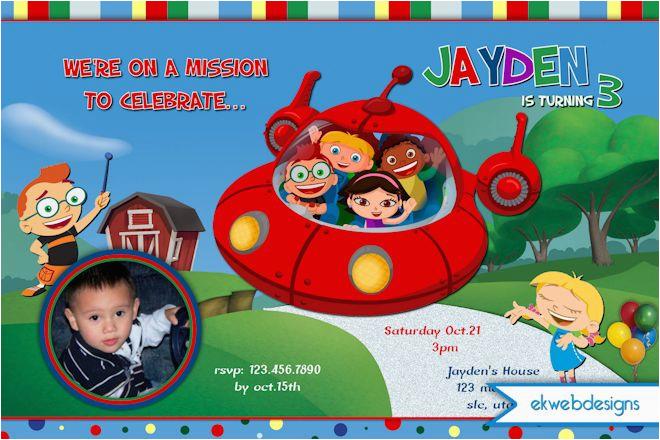 disney little einsteins birthday invitations
