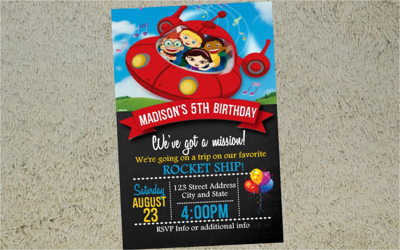 little einsteins birthday invitation little einsteins