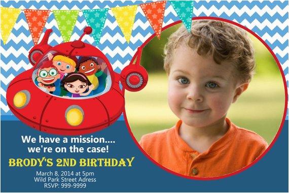 little einsteins birthday invitation photo birthday invite