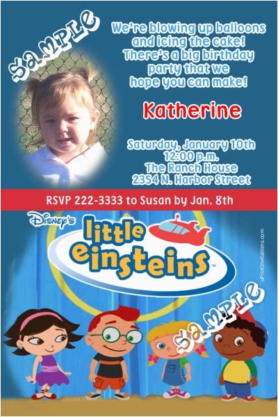 little einsteins birthday invitations
