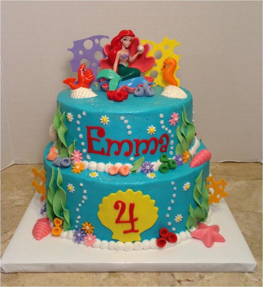 Little Mermaid 4th Birthday Cake