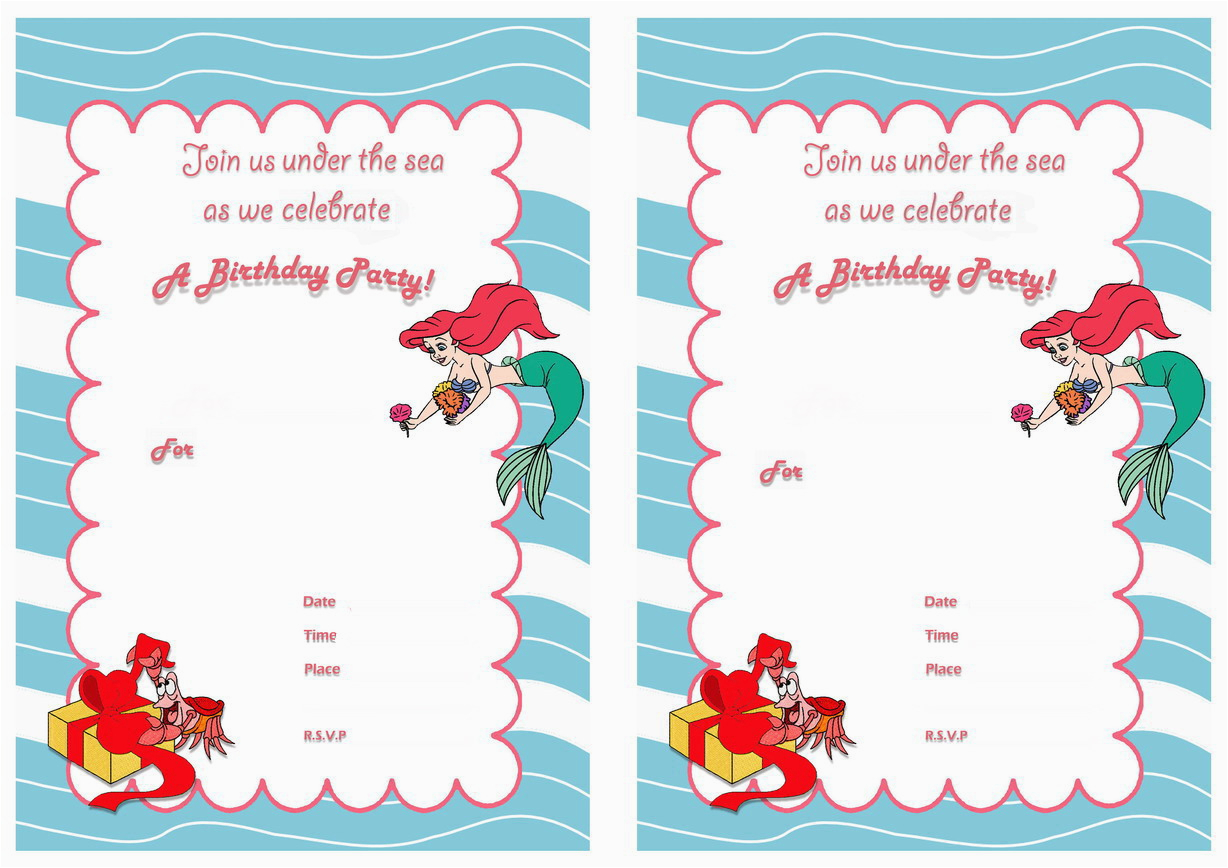 image relating to Mermaid Birthday Invitations Free Printable known as Small Mermaid Birthday Invites Free of charge Printables Very little