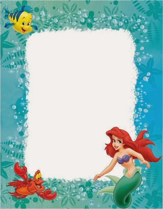 Little Mermaid Birthday Invitations Free Printables Little Mermaid Free Printables Oh My Fiesta In English