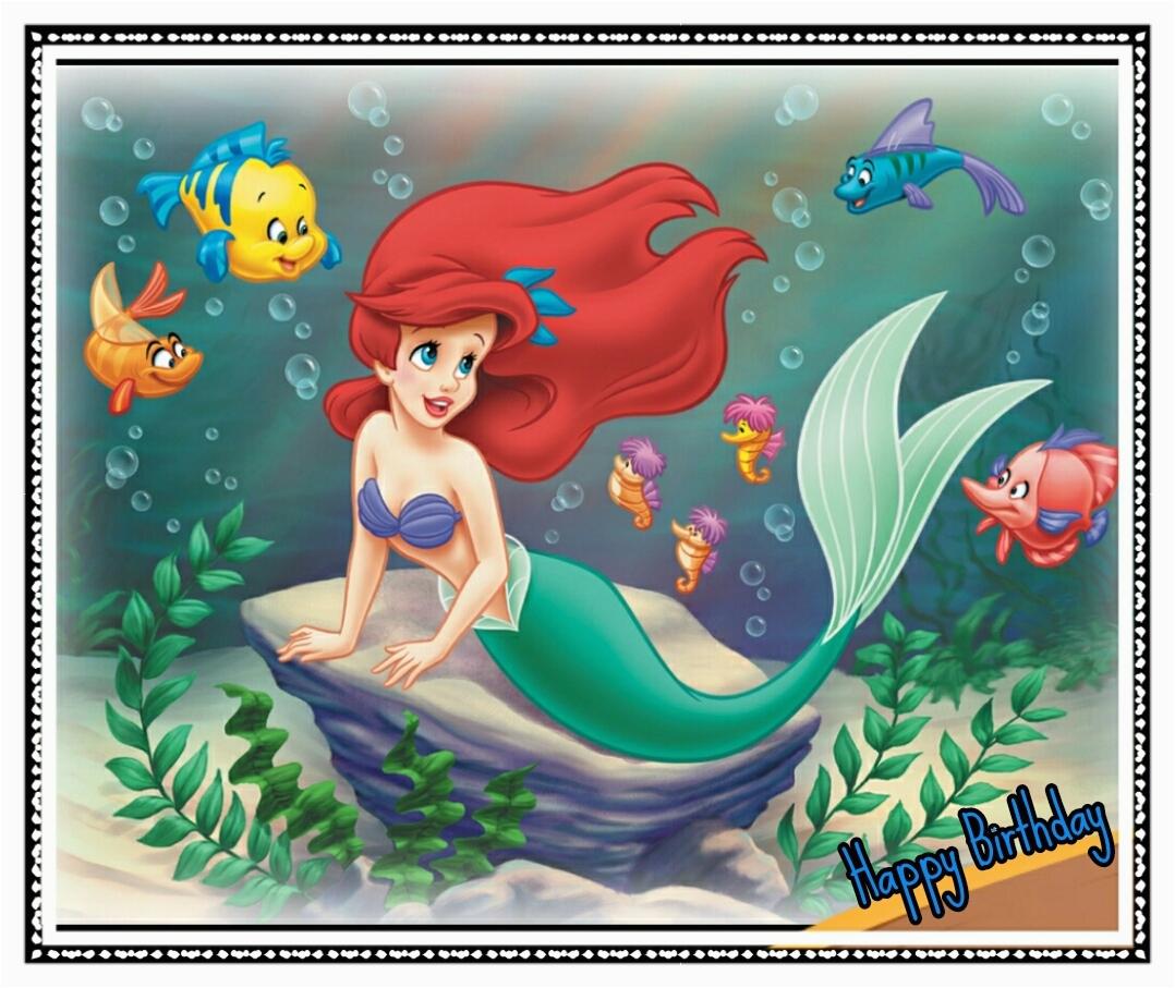 happy birthday images little mermaid