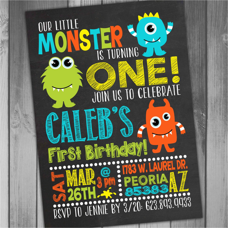 monster birthday invitation little