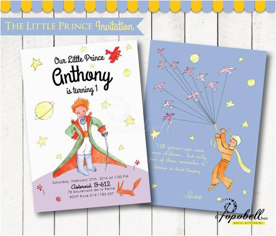 the little prince invitation for the