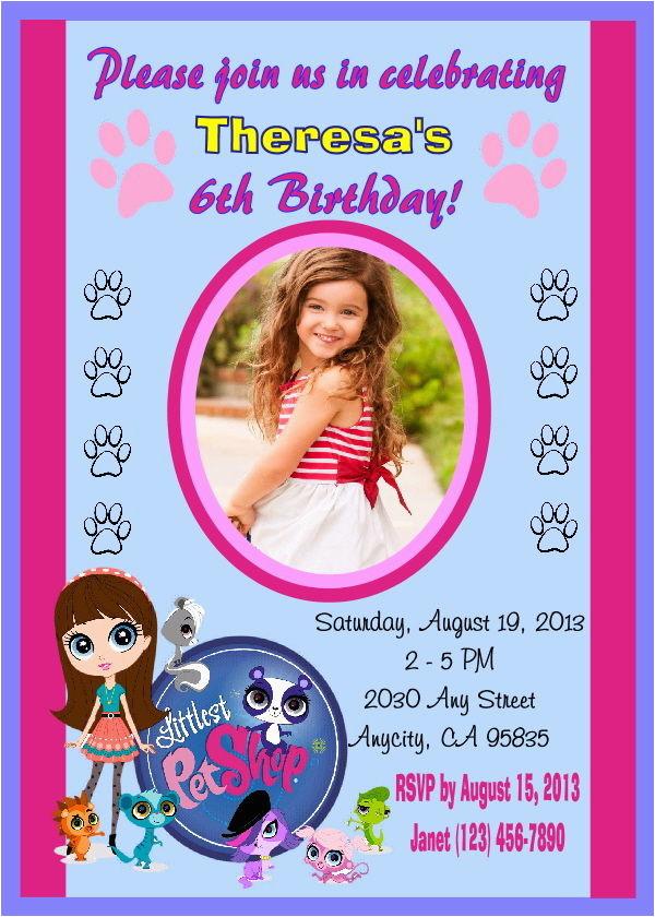 Littlest Pet Shop Birthday Invitations Printable Free Littlest Pet