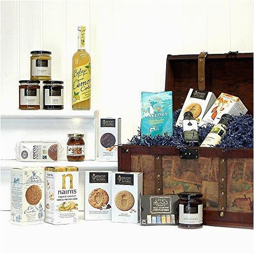 large luxury vintage organic food chest hamper luxury