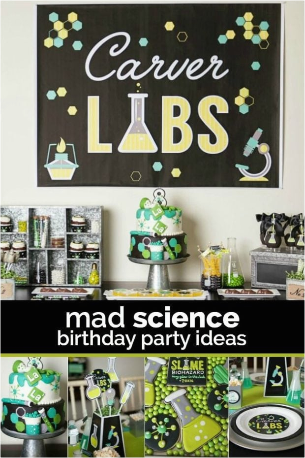 a boys laboratory science birthday party