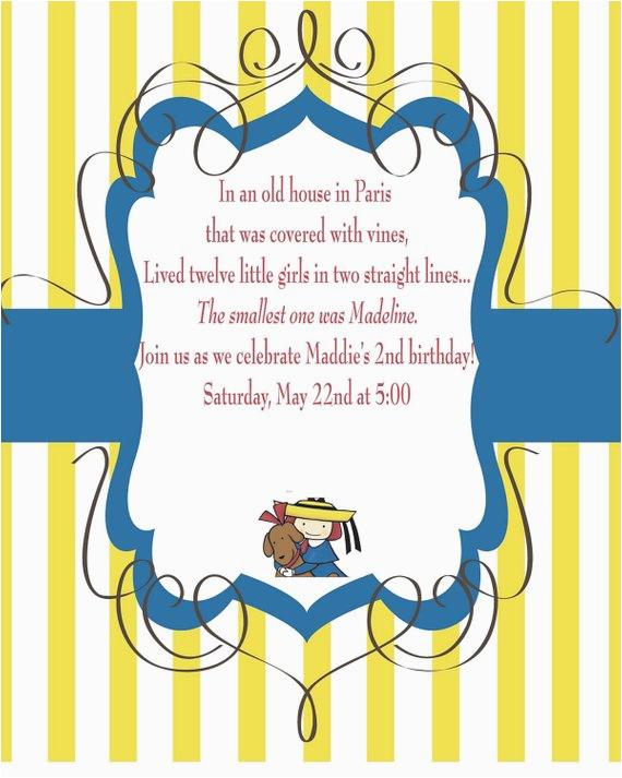 madeline birthday invitation