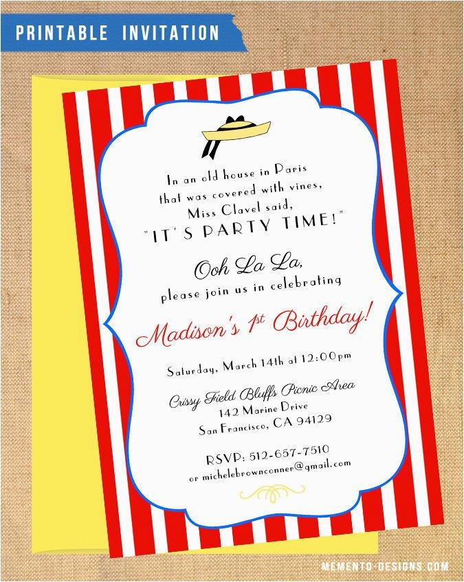 madeline birthdayshower invitation