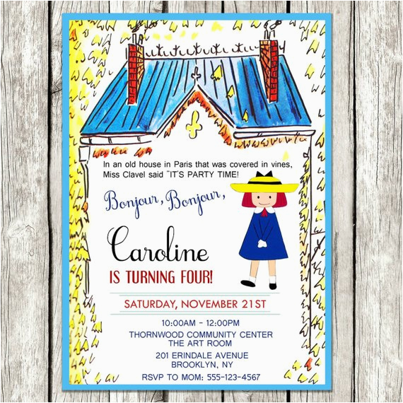 madeline invitation madeline birthday
