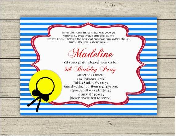printable madeline birthday invitation 3