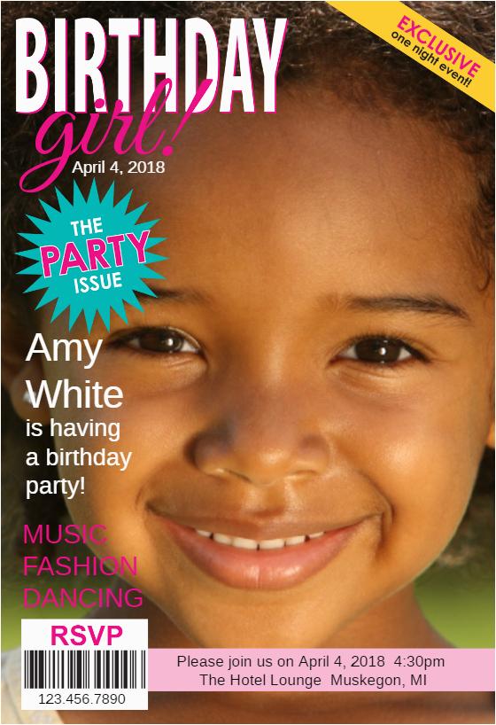 Magazine Cover Birthday Invitations the Party issue Magazine Cover Free Birthday Invitation