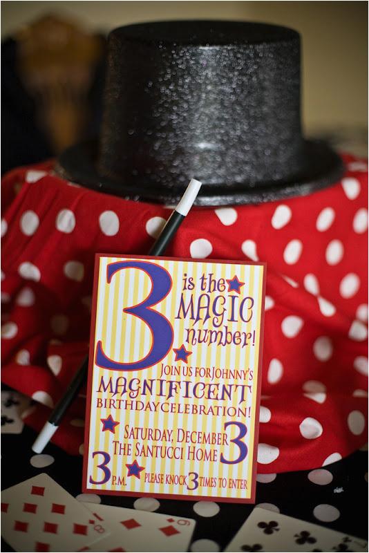 magic themed 3rd birthday party