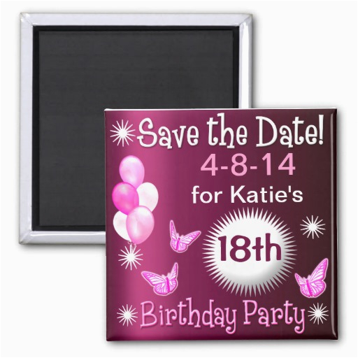 Magnetic Birthday Party Invitations Ladies Birthday Invitation Magnet Fridge Magnet Zazzle