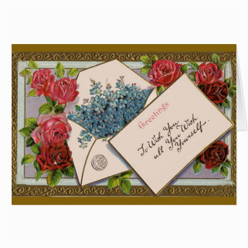 flowers in the mail birthday card zazzle