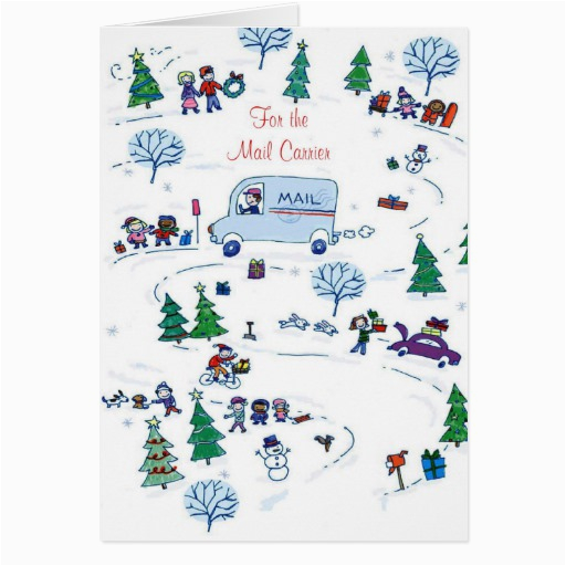 for the mail carrier greeting card zazzle