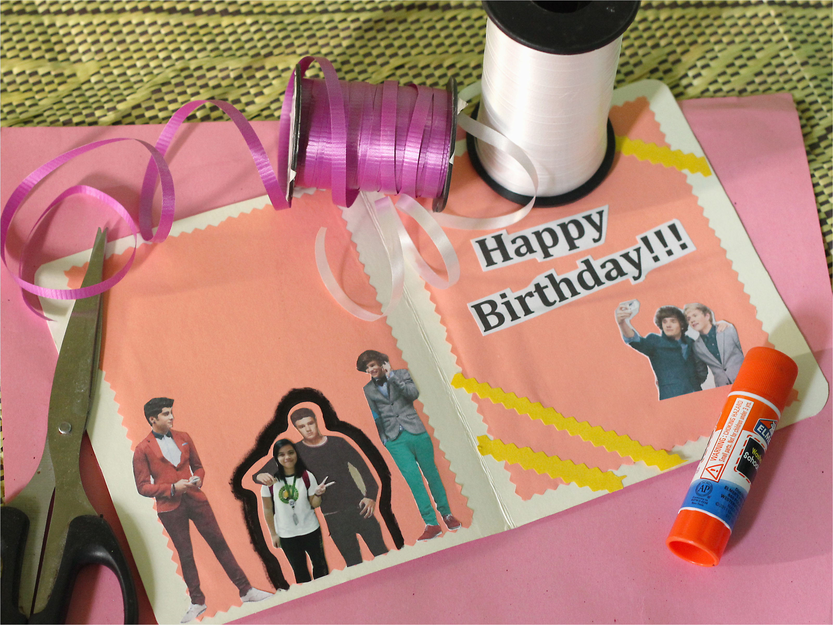 make a birthday card for a one direction fan