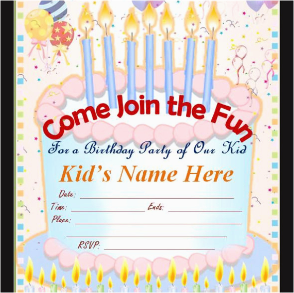 Make Birthday Invitation Cards Online For Free 50 Printable Templates Sample