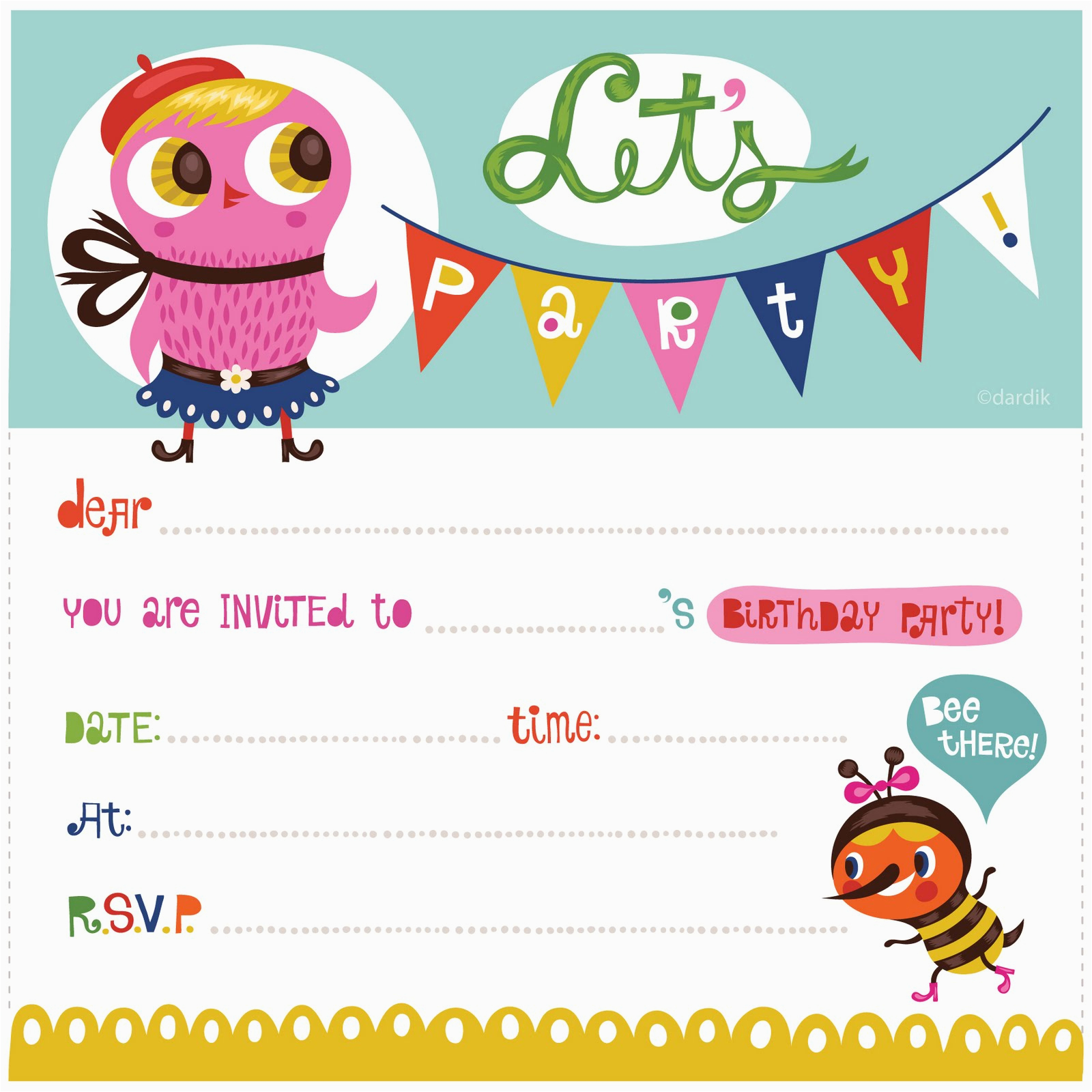 Make Birthday Invitation Cards Online For Free Printable 100 Templates You Will Love