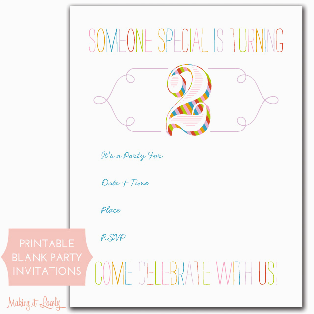 41 Cute Birthday Party Invitations For Kids To Make Printable Cards