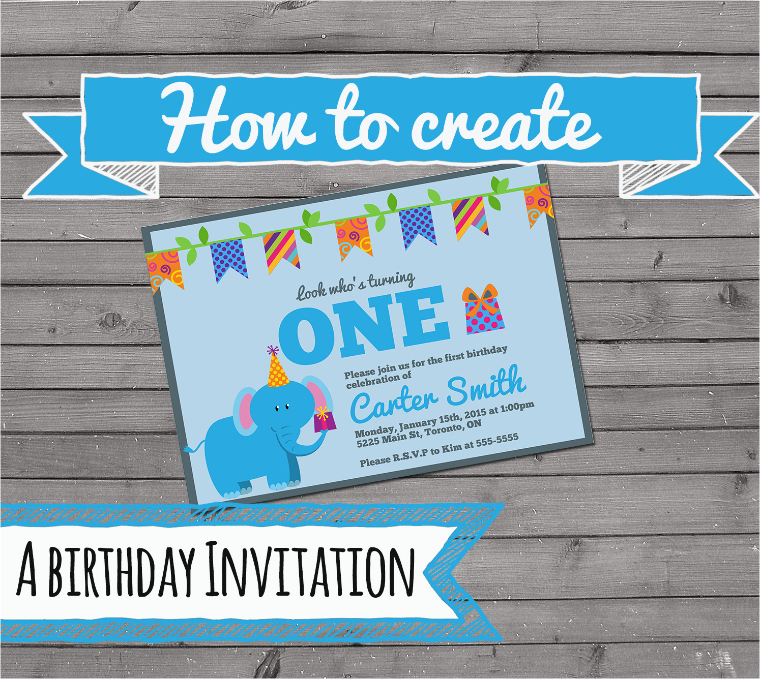 Make Your Own 1st Birthday Invitations Create Photo First