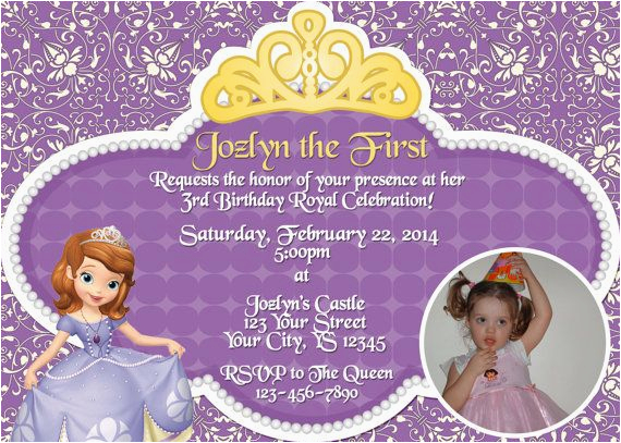 552816922982334812 Sofia The First Birthday Invitation Print Your Own By From Make