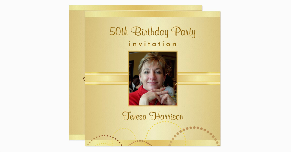 50th birthday party invitations create your own 161583799890271737